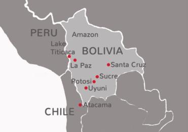 Bolivia-uitsnede
